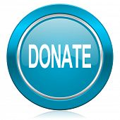 donate blue icon