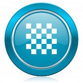 chess blue icon