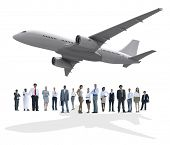 Travel Business People Airplane Diversity Trip Flight Concept