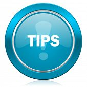 tips blue icon