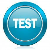 test blue icon