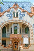 SUBOTICA, SERBIA - AUGUST 05: the art nouveau Raichle Palace was built in 1904 in Subotica, now a modern art gallery. Shot in 2014