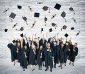 Diversity Teenager Graduation Celebration Ceremony Success Concept