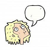 cartoon staring woman
