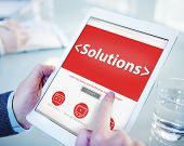 Digital Online Solutions Innovation Strategy Office Working Concept