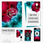 Identity design for Your Wine studio business. Set of blanks,