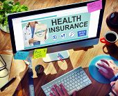 picture of health  - Health Insurance Safety Healthcare Protection Office Working Concept - JPG