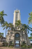 Aloha Tower in Downtown Honolulu Hawaii, USA, January 3, 2015