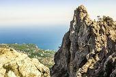 The Top Of Mount Ai-petri In Crimea On A  Sunny Day