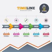 foto of arrow  - Timeline infographic with arrows - JPG