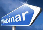 online workshop webinar or online smeminar meeting or conference