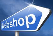 webshop road sign buy or sell at internet web shop online shopping e-commerce