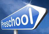 preschool education kindergarten nursery school or playgroup