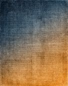 picture of cross-hatch  - Vintage cloth with a blue to orange screen pattern and grunge background textures - JPG