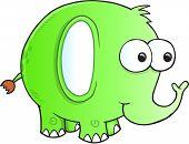 Silly goofy Elephant Vector Illustration Art