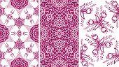 set of 3 seamless patterns