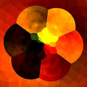 Постер, плакат: Abstract orange background for design artworks Colorful fractals Creative flower digital artwork
