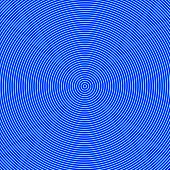 Geometric abstract background. Hypnosis concept. Blue color concentric circles. Illustration.