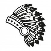 Native american indian headdress // vector