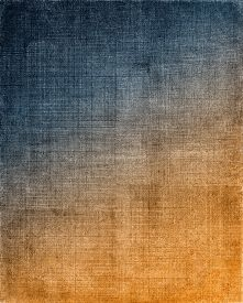 stock photo of cross-hatch  - Vintage cloth with a blue to orange screen pattern and grunge background textures - JPG