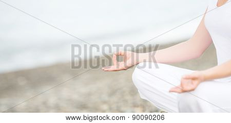 Hand Of Woman Meditating In