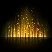 foto of aurora borealis  - Gold aurora light - JPG