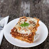 picture of lasagna  - Close - JPG
