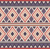 picture of rhombus  - Vector seamless tribal pattern with rhombus - JPG