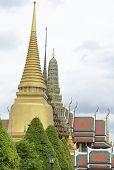 stock photo of buddha  - Wat Phra Kaew OR Temple of the Emerald Buddha - JPG