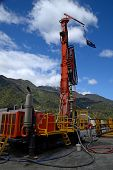 picture of  rig  - Drilling rig on the Deep Fault Drilling Project Whataroa New Zealand - JPG