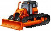 picture of bulldozer  - Close up modern design of bulldozer - JPG