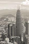 pic of klcc  - City skyline panorama in Kuala Lumpur - JPG