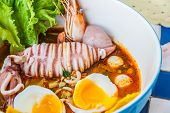 picture of squid  - Thai local food - JPG