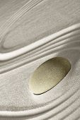 image of zen  - zen rock garden japanese garden zen stone tranquility and balance ripples sand pattern spa wellness relaxation - JPG