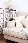 stock photo of comfort  - Modern room with comfortable sofa - JPG