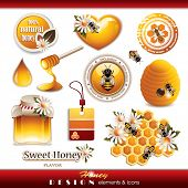foto of ooze  - Honey Design Elements and Icons - JPG