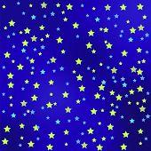 pic of starry sky  - Star Blue Sky Background - JPG