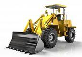 stock photo of bulldozer  - bulldozer isolated on white nice image see them all - JPG
