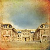 foto of chateau  - Outside view of Famous palace Versailles - JPG