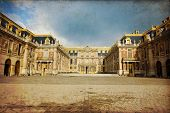 foto of versaille  - Outside view of Famous palace Versailles - JPG