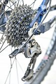 pic of bicycle gear  - Bicycle gears and rear derailleur - JPG