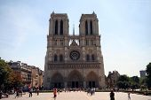 picture of notre dame  - notre dame de paris cathedral in france - JPG