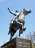 foto of bolivar  - Monument to Simon Bolivar in Washington DC USA - JPG