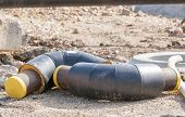 foto of elbows  - Large water pipeline replacement  - JPG