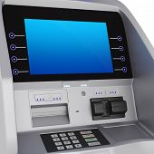 picture of automatic teller machine  - Display and keyboard set terminal - JPG