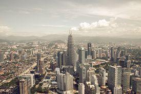 picture of kuala lumpur skyline  - City skyline panorama in Kuala Lumpur - JPG