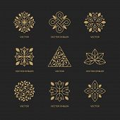Vector Set Of Logo Design Templates poster