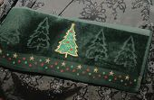 Christmas Tree Hand Towel Close-Up