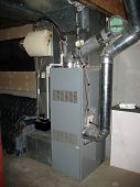 image of furnace  - a shot of a modern furnace - JPG