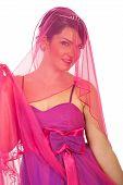 Portrait Of Beauty  Bride In Pink
